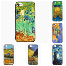 Van Gogh Irises Cell Phone Case For iPhone iPod 4 5s 6s 7 Plus For Nokia Lumia N5 N6 HTC For Blackberry Priv Cover Shell Gift(China)