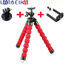 LANBEIKA For GoPro Mini Flexible Camera Tripod Octopus Bubble Tripod with Mount Adapter for SJCAM M20 SJ6 SJ7 Go Pro Hero 5 4 3+