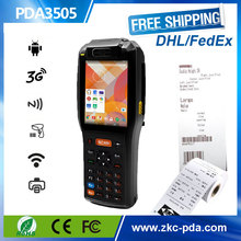 Android based POS with receipt printer and mifare RFID card reader ,3G wireless pda with 1D Laser barcode scanner ZKC PDA3505