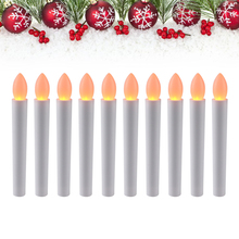 10pcs Party Wedding Christmas Home Tree Decoration LED Candles light new year adornment electric Bar wax(China)