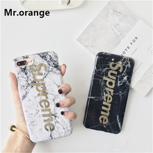 High Quality Suprem Painting Marble Phone Case Anti-knock Soft TPU Silicone Case For IPhone 7 7plus 6 6s 6plus Cute Cover Fundas