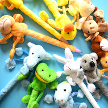(12 pieces/Lot) Plush Animal Ballpoint Pen Materiais Escolares Ofertas Para Hoje Pens Material De Papeleria Students Gift Supply(China)