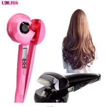 Automatic Hair Curler LED Steam Hair Curlers Perm Curl Hair Rolloer Styler hair l bendy roller curler perfect curling machine(China)