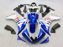 Injection Mold Fairing kit for YZFR1 09 10 YZF R1 2009 2010 YZF1000 Fashion blue white Motorcycle Fairings set+7gifts YB09