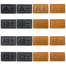 1pc3d Pvc Badge Tactics A / B / O / Ab + Blood Type Subsidy Moral Supplement Military Badge Tactical Rubber Jacket