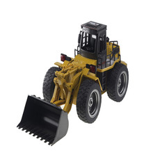 Buy RC Car Electric Excavator Remote Control Toys Engineering Car Toy Alloy Electronic Remote Control RC Forklift Truck Boys Kid for $46.58 in AliExpress store