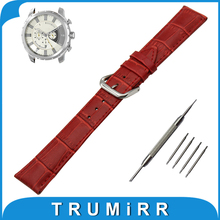 20mm 22mm 24mm Croco Genuine Leather Watch Band for Diesel Stainless Steel Pin Buckle Strap Wrist Belt Bracelet + Tool