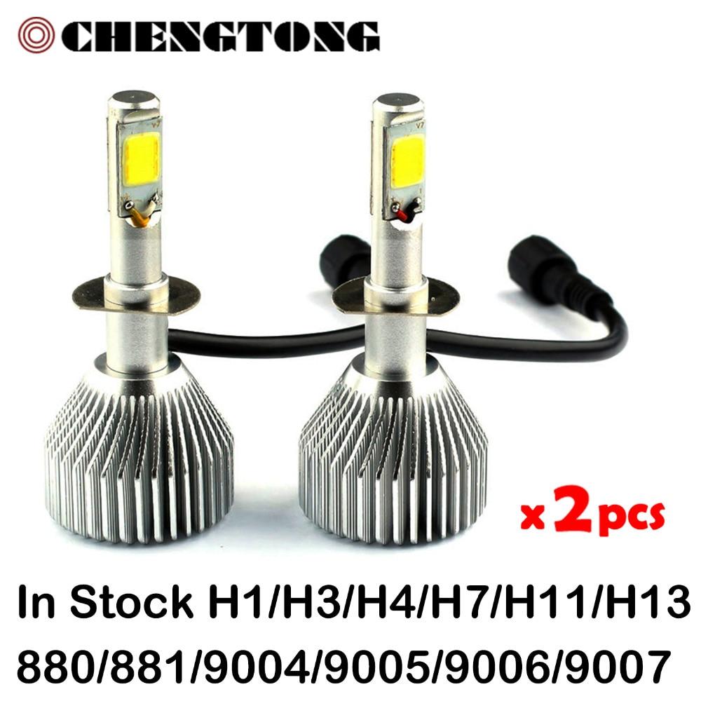 Car Headlights LED  Bulb Auto Front Bulb 60W 6000lm H1 H3 H4 H7 H11 H13 9005 9006 9007 880 Automobiles Headlamp 6000K/3000K C6<br><br>Aliexpress