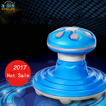 2017 Mini Mushroom Head Shape Electric Handled Wave Vibrating Massager USB Battery Full Body Massage