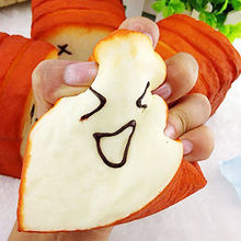 Kawaii jumbo Toast Bread Squishy Super Slow Rising Phone Straps Scent Soft Bun Charms Food Collectibles Toys Simulation breadou(China)