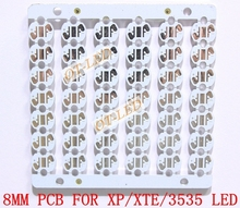 Freeshipping!8MM CREE XPE/XPG/XTE/3535 LED PCB/ Aluminum base plate/ Circuit board/PCB LED board 100pcs/lot