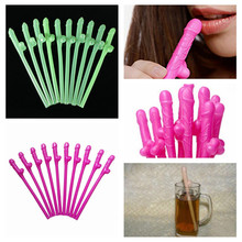 Hot 10pcs Bachelorette party willy Straws Sex products Dicky Jok Straw event Hen Party supplies Drinking Penis Straws 5ZHH201
