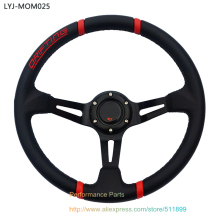 LYJ-MOM025 PVC Drifting Car Steering Wheel Universal Racing Steering Wheel