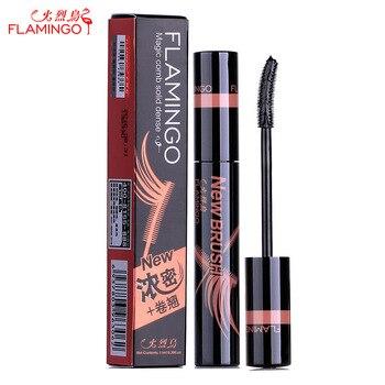 Livraison Gratuite Chine Top 1 Mascara Marque Flamingo Magique Et Stéréo Peigne Dense Allongement Étanche Facile à Porter Mascara 6306