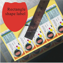 Wholesale Free Shipping Customized Logo Sticker Label Rectangle Die Cut Shape Printing Full Colour Printing Label Sticker(China)
