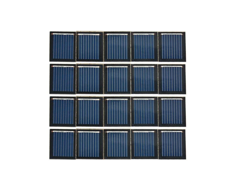 Aoshike Pcs Solar Panel China Painel Solar Polycrystalline Silicon Solar Cell DIY Technology Mini Material 0.5V 80MA 7