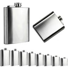 AG 24 Mosunx Business 2016 Hot Selling   Stainless Steel Pocket Hip Flask Alcohol Whiskey Liquor Screw Cap