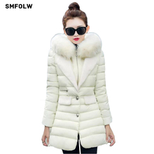 SMFOLW Winter Jacket Women 2017 New Large Size Fashion padded jacket and long sections Duck Jacket Warm Parkas