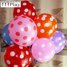 20pcs/lot 12 Inch Polka Dot Colored Latex Balloons Inflatable Wedding Party Decoration Air Balls Happy Birthday Party Supplies(China)