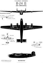 "U.S. Heavy Bomber B-24D ""Liberator"" WWII WW2 Poster Vintage Retro Decorative DIY Wall Stickers Home Posters Art Bar Decor"