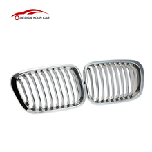 Car Style 1Pair Plated Chrome Silver Front Grilles for BMW E46 4 Door 98-01 Car Accessories