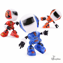 12cm 11Joints Mini Josephina Iron Robot Action Figures Kids Toy Sound-Light Shaped Alloy+ABS Entertainment Anti-Stress Toy(China)