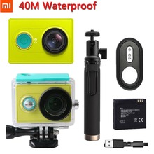 Original xiaomi yi Action Camera Travel 1080P 60fps 16MP Wifi Bluetooth 4.0 Smart Extreme Waterproof Sports Camera