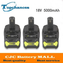 3PCS High Capacity New 18V 5000mAh Li-Ion For Ryobi Hot P108 RB18L40 Rechargeable Battery Pack Power Tool Battery Ryobi ONE+