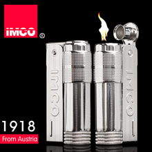 IMCO original global steel gasoline lighter,Vintage blue kerosene lighter,Cool logo lighters triplex 1918(China)