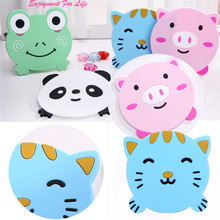 Lovely 1PC Animal Pattern 2017 Wholesale Superior Quality Hot Sale Silicone Cup Drinks Holder Mat Tableware Placemat Feb 15(China)