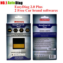 DHL Free Shipping !Two car Softwares Free !2017 Newest 100% Original Launch X431 EasyDiag 2.0 Plus Launch Easy Diag Android&IOS