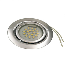 20pcs/lot Round LED Cabinet Light downlight ceiling Warm White/cold White DC12V SMD 3528 18leds Use For Jewellery Home Office