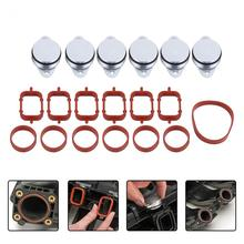 4/6pcs 22mm Diesel Swirl Flap Blanks Bungs Intake Gaskets Kit for BMW 320d 330d 520d 525d 530d SI-A0136(China)