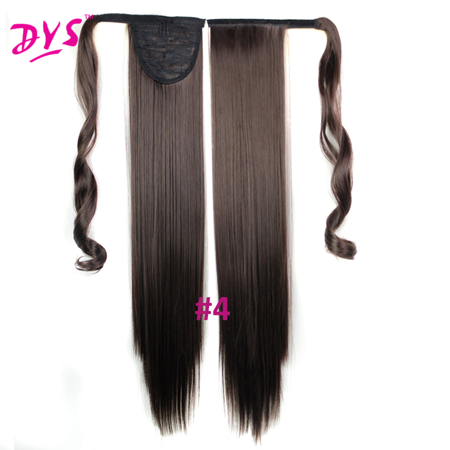 Deyngs 60cm Long Straight Clip In Hair Tail False Hair Ponytail Hairpiece With Hairpins Synthetic Hair Pony Tail Hair Extensions (23)