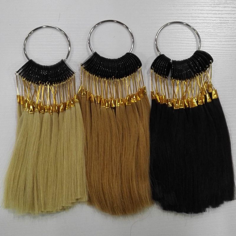 6inch human hair color ring for salon hair color chart three color /lot(China)