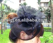 Black FASCINATOR ,dances,races,weddings,Party HAT costume flower hair Hat  H117