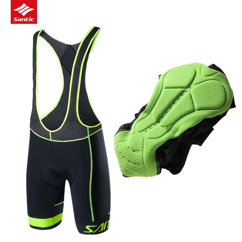 Santic Cycling Shorts Men Summer Downhill MTB Road 4D Coolmax Padded Shorts Breathable Mountain Bike Shorts Bermuda Ciclismo<br>