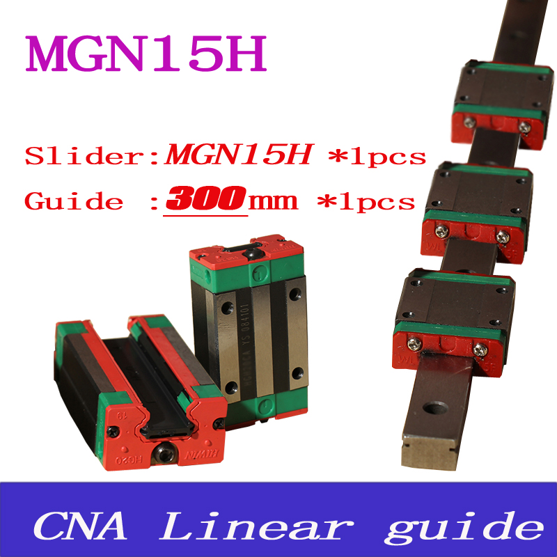 15mm Linear Guide MGN15 L= 300mm linear rail way + MGN15H Long linear carriage for CNC X Y Z Axis<br><br>Aliexpress