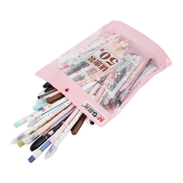 50 pcs/Lot Kawaii gel pens 0.38mm / 0.35mm Stationery Office School supply lapices escolar HAGP0704<br>