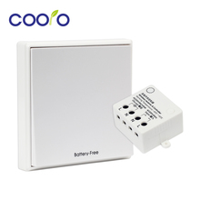 Wireless Light Switch Kit,Battery-Free,Remote Switch Quick Create or Relocate in Anywhere,Self-Powered Switch,Easy Installation(China)