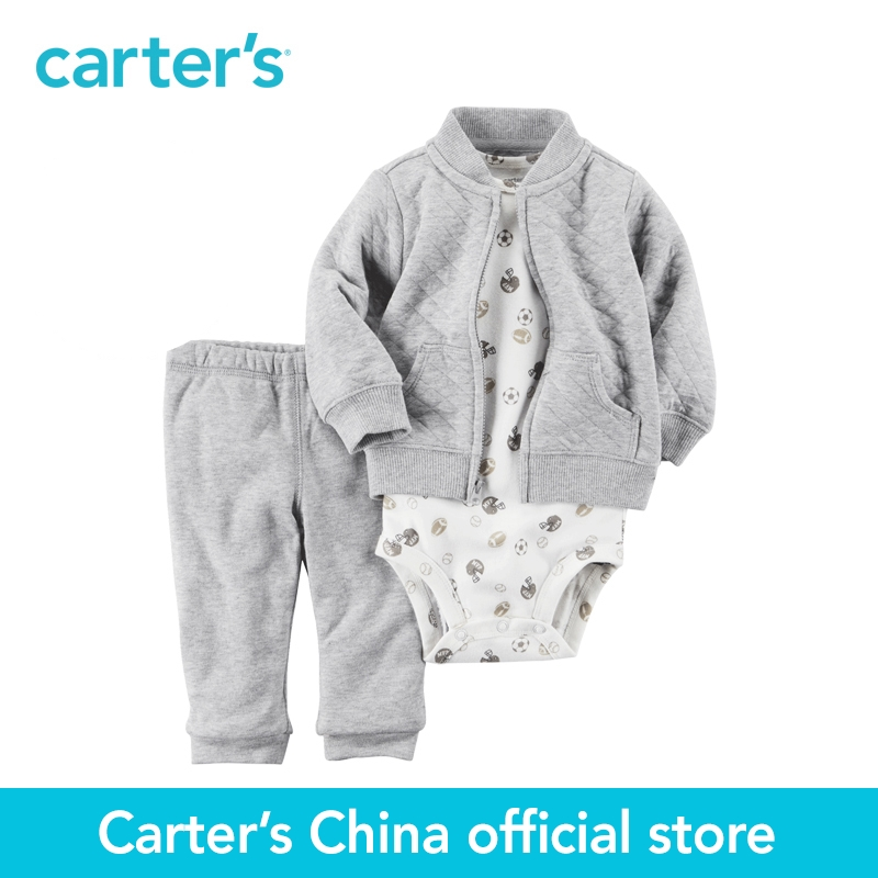 Carters 3pcs baby children kids Padded Cardigan Set 121H456,sold by Carters China official store<br>