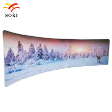 20ft*7.5ft C Shape CustomTrade Show Fabric Display Exhibition Booth System Design Pop up Backdrop Wall With Single Printing(China)