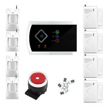 Freeship Home Alarm System Russian English Voice Auto dial GSM Security System 433Mhz GSM SMS alarm APP remote control