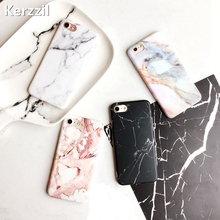 Kerzzil IMD Marble Stone Gel Case For iPhone 6 6S Plus Colorful Soft Silicone Granite Cover Back For iPhone 6 7 6S Capa Coque