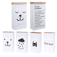 New Storage Bags Heavy Kraft Paper Storage Bags Laundry Bag Toys Clothes Organizer Home(China)