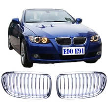 New Chrome Kidney Front Grills Grille For BMW E90 E91 LCI 318i 320i 320d 328i 335i Sedan Wagon 2009 2010 2011 Car Style #9206(China)