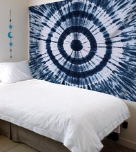 CAMMITEVER Drop Shipping Blue White Mandala Tapestry Abstract Vortex Colorful Printed Beach Towel Yoga Mat Bikini Cover-up(China)