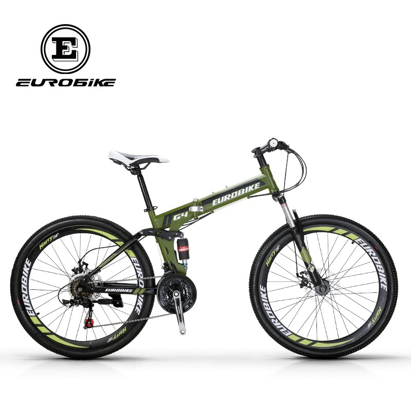 EUROBIKE 26 INCH 21 SPEED Bicycle SUSPENSION FOLDING BIKE WITH SUSPENSION FORK Folding cycle(China)