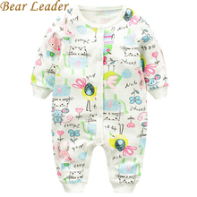 Bear Leader Baby Rompers Autumn Fashion Baby Girls Clothes Long-sleeve Animal Printing Baby Jumpsuit Kids Clothing Newborn suit