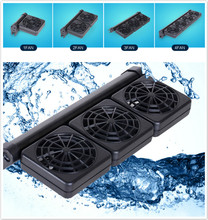 Hot Sale 1/2/3/4 Fans Aquarium Cooler Adjustable Wind Cooling Fan Powerful Aquarium Water Chiller Cold Wind Maker For Fish Tank(China)